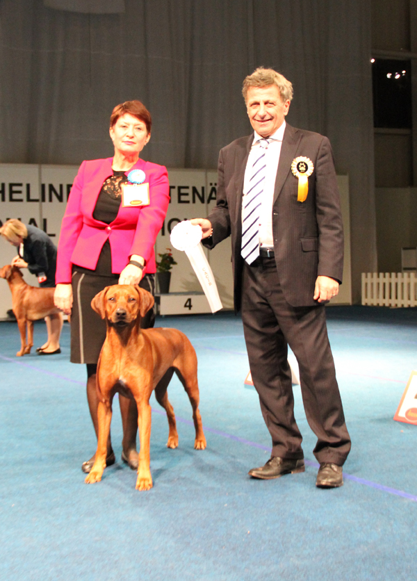 ex 1 in champion class, Best Female (BOS), CACIB
